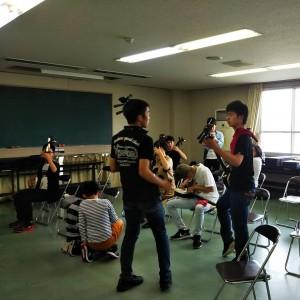 練習部屋での弦侍Jr.